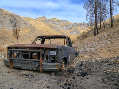 Burned Out Truck